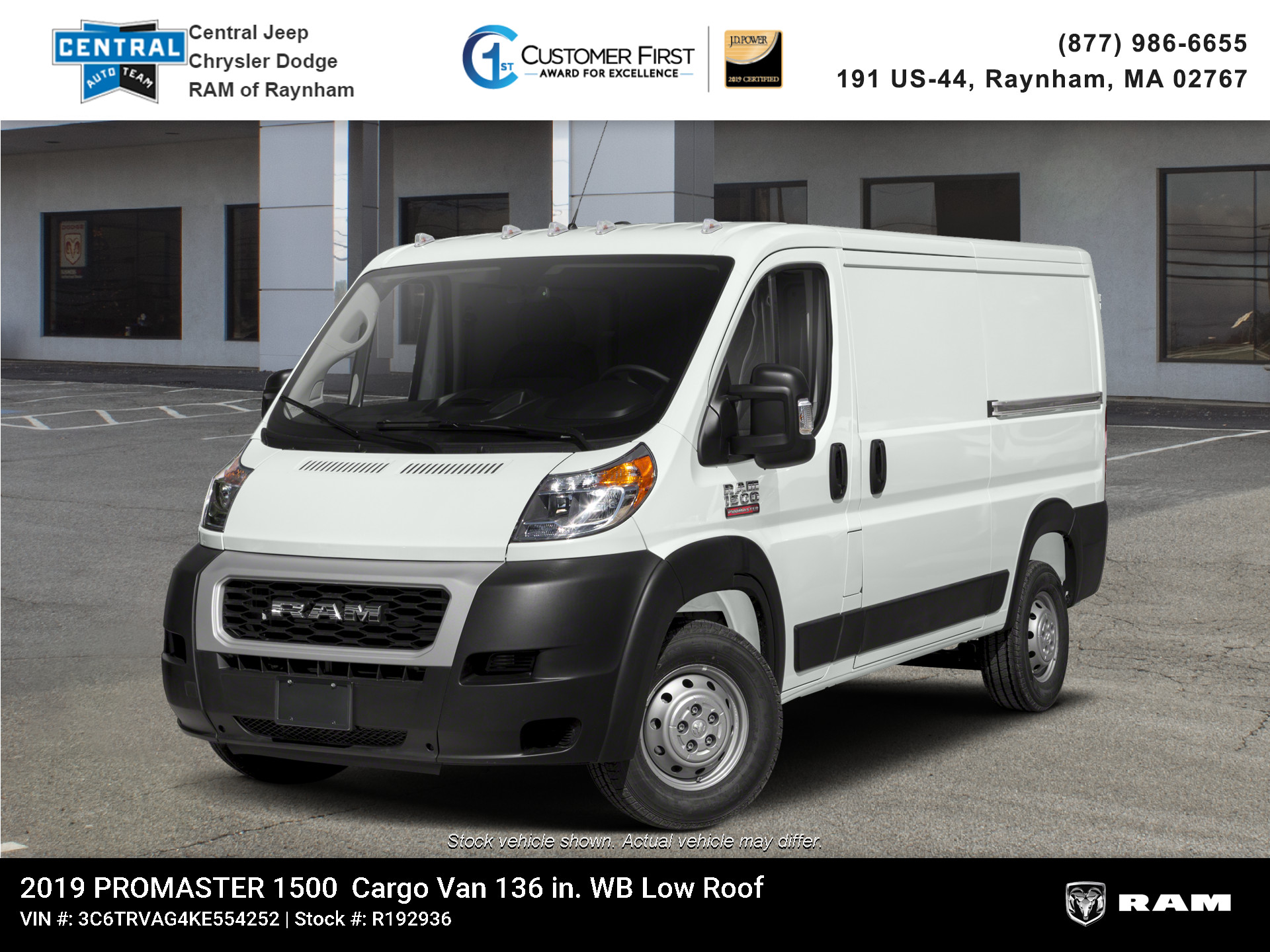 New 2019 Ram ProMaster 136 WB Low Roof Cargo